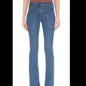 Veronica Beard Patch Pocket skinny flare jeans DR